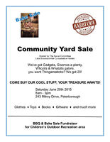Community Yard Sale & BBQ/Bake Sale Fundraiser