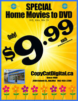VHS,8mm,MiniDV tapes to DVD only $9.99 CopyCatDigital since 1988