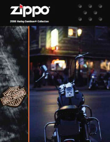 Zippo Lighter 2008 Harley Davidson Collection Product Price Catalog Book