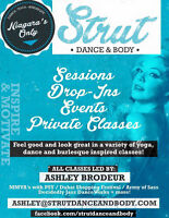 Strut Dance and Body- Burlesque and Yoga Sessions and Classes!