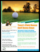 Tony's Club House - Golf Demo Days