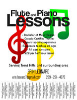 Flute and Piano Teacher in Trent Hills