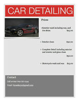 Car Detailing at an affordable price
