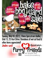 Furry Friends: Bake/BBQ/Yard Sale Fundraiser! Watch Share  Print