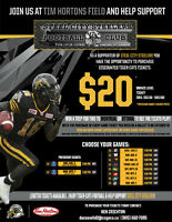 Hamilton Tiger - Cat tickets supporting local youth football
