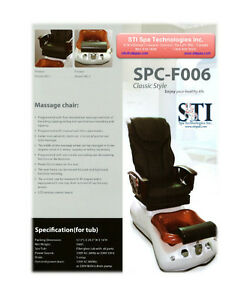 Vist pipe less Pedicure Spa Salon Shiatsu chair