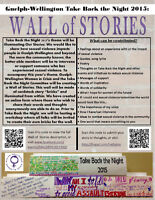 Take Back the Night 2015: Wall of Stories