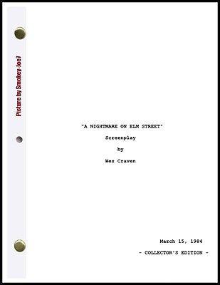 A Nightmare on Elm Street - THE MOVIE SCRIPT / SCREENPLAY