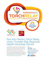 Pan Am Games Torch Relay Visits TBRHSC on May 31st!