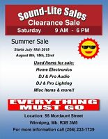 Sound-Lite Sales Summer Clearance Sale