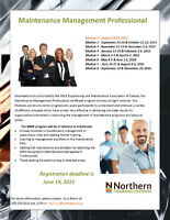 Maintenance Management Professional (MMP) Certificate Program