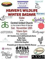 Winter Craft & Food Bazaar for Heaven's Wildlife Rescue