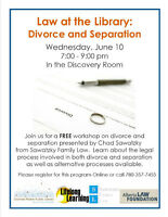 Law at the Library: Divorce and Separation