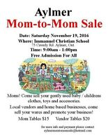 Mom to mom sale