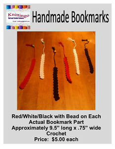 Crochet Bookmarks, Necklace, and Friendship Bracelets