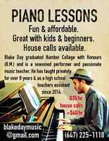 PIANO LESSONS - House calls Available!