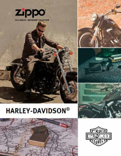 Zippo Lighter 2015 Harley Davidson Collection Product Price Catalog Book