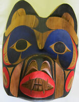"First Nations Hand Carved Mask ""Bear Strength Of The Forest"""