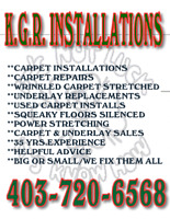 ** RELIABLE CARPET INSTALLATIONS & REPAIRS by KGR **