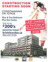 Yonge & Gamble 2 Bedrooms start from $377990