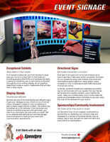 EXCITING Trade Show & Event Signage Available Now!
