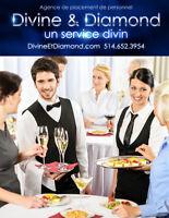 Serveurs de banquet pour Événements & Corporatifs - 15$/hr & +++