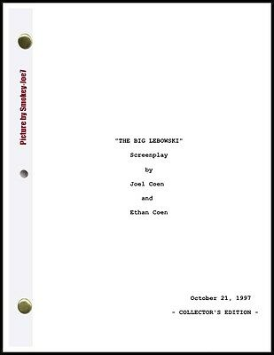 The Big Lebowski - THE MOVIE SCRIPT / SCREENPLAY