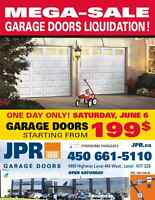 Garage Doors Mega-Sale on Saturday, June 6