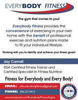 Personal training with EveryBody Fitness