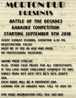 BATTLE OF THE DECADES KARAOKE COMPETITION