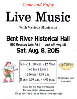Annual Music Day at the Bent River Historical Hall