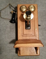 Wooden Wall phone Northern Electric