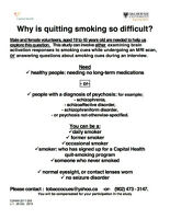 Research Study: Why is quitting smoking so difficult?