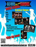 Summer Music Camps July and August Owen Sound Rock and Pop Music