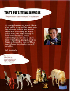 Tina's Pet Sitting Services in Tillsonburg