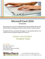 Microsoft Excel 2010 Introduction - N.College