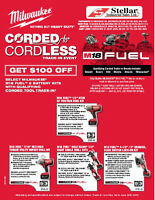 Stellar Industrial - MILWAUKEE CORDED to CORDLESS Trade-In Event