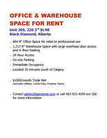 Office & Warehouse Space for Rent