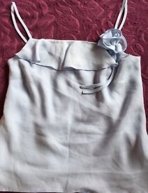 Stunning light blue vest top size 12 from New Look