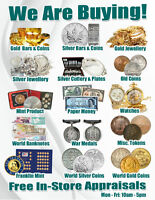 We Are Buying - Gold & Silver Jewellery & Coins!