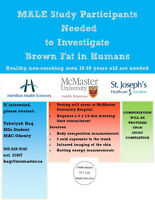 Male Study Participants Needed to Investigate Brown Fat in Human