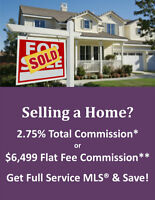 LIST FOR 2.75% TOTAL COMMISSION!* SAVE THOU$ANDS!**