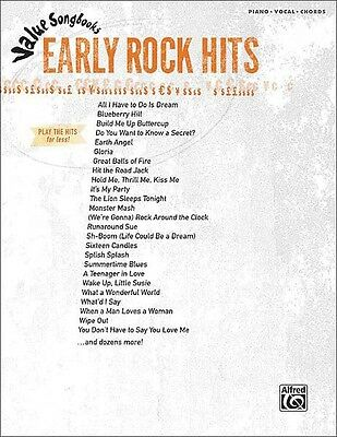Early Rock Hits Sheet Music Value Songbooks Piano Vocal Guitar SongBoo 000322256