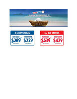 Sale!Sale! Cruise route to Bahamas & Carribean- $299