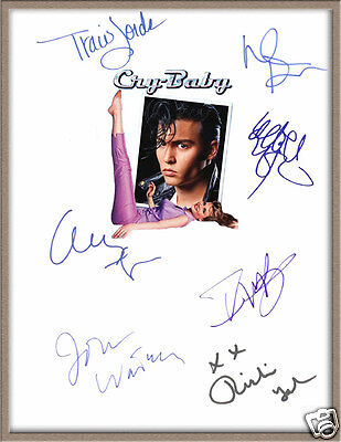 """JOHNNY DEPP IGGY POP TRACI LORDS SIGNED X7 """"CRY BABY"""" MOVIE MUSICAL SCRIPT RPT"""