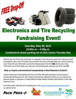 Free Electronics and Tire Recycling Fundraising Event