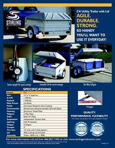 Stirling C4i Utility Trailer with Cover