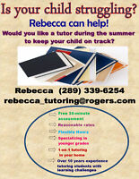 Rebecca's one-on-one tutoring in your home