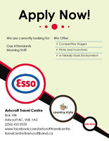 Gas Attendant - Ashcroft Travel Centre