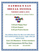FATHER'S DAY SOCIAL SUPPER